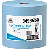 WypAll X60 Wipers, Jumbo Roll, Blue, 1100/Roll