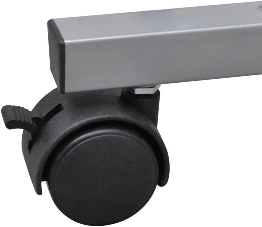 vidaXL Table de Bureau Brun pour Ordinateur avec roulettes et Plateau