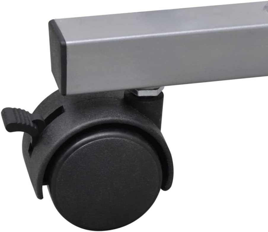 vidaXL Table de Bureau Noir PC Meuble Table d'Ordinateur Bureau Informatique
