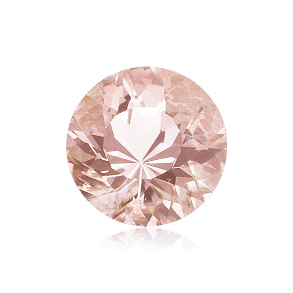 Mysticdrop 0.40-0.50 Cts of 5 mm AAA Round Diamond Cut Morganite (1 pc) Loose Gemstone