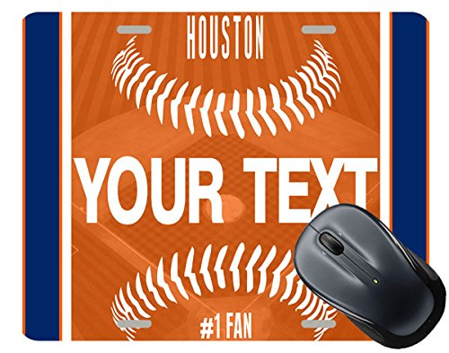 BRGiftShop Customize Your Own Baseball Team Houston Square Mouse Pad (Have The Houston Astros Won A World Series)
