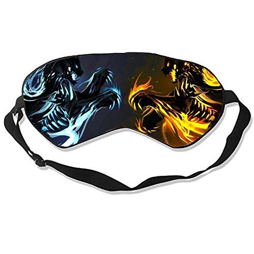 Ice and Fire Dragons Sleep Eye Mask for Sleeping Contoured Eyemask Silk Best Night Blinder Eyeshade for Men Women - Ice Fire And Mask