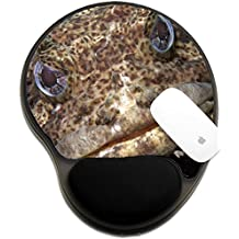 Luxlady Mousepad wrist protected Mouse Pads/Mat with wrist support design IMAGE ID: 20154383 Close up of a muppet like Oyster Toadfish