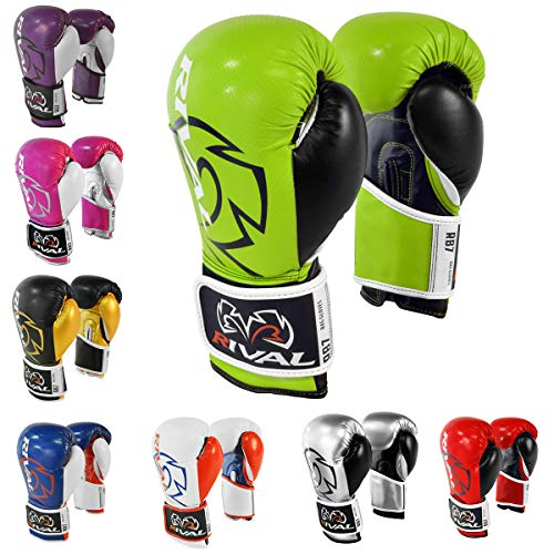 Rival Boxing RB7 Fitness+ Hook and Loop Bag Gloves - 6 oz. - Lime/Black