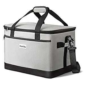 OlarHike-30-Liter-Large-Cooler-Lunch-Bag-Collapsible-and-Insulated-Lunch-Box-Leakproof-Cooler-Bag-for-Camping-Picnic-BBQ-Family-Outdoor-Activities-Grey