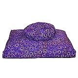DharmaCrafts Joyful Yogi Batik ZZSet - Zafu and Zabuton Meditation Cushions - Yoga Pillows (Purple Haze)