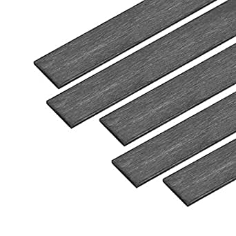 uxcell Carbon Fiber Strip Bars 6x10mm 400mm Length Pultruded Carbon Fiber Strips for Kites RC Airplane 1 Pcs