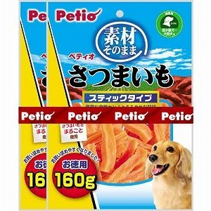 Petio Snack for Dogs [Sweet Potato (Stick Type)]160g x 2 Bags (Japan Import)