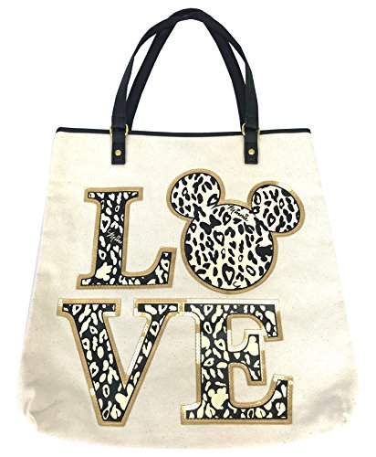 Tote Animal Print Handbag (Disney Parks Shanghai Resort Minnie Mouse LOVE Animal Print Tote Bag Handbag)