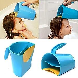 Shampoo Rinse Cup by My GOGO Baby   Baby Bath Cup to Wash Hair, Bath Rinser, Shampoo Rinse Cup, Hair Rinse Cup, Baby Hair Rinsing Cup - MAKE KIDS BATHING TEAR-FREE AND FUN