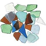 Darice Bulk Buy DIY Crafts Sea Glass in Mesh Bag Multicolor Rainbow Mix 1lb (3-Pack) 1140-67
