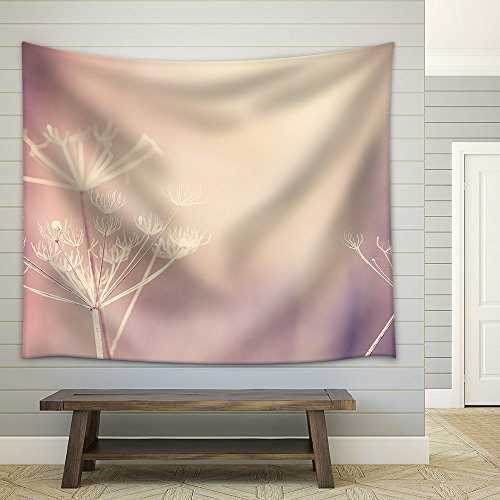 Vintage toned dry plant background shallow depth of field space for text Fabric Wall Tapestry
