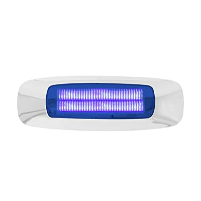"GG Grand General 74735 Light (4-5/8"" Rectangle Prime Blue 4 LED Dual Function Int.): Automotive"