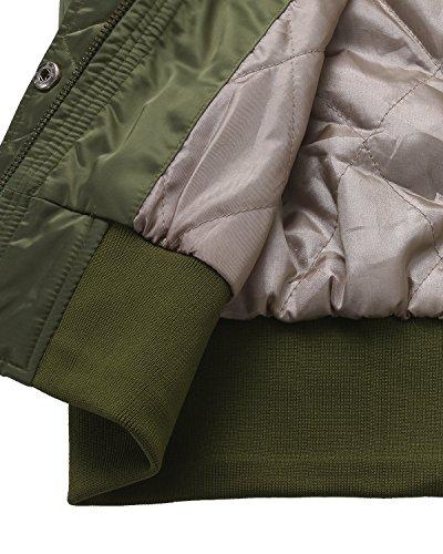 Capuche Blouson Veste Zipper Casual Automne Kidsform Manteaux Hiver Femme Arme Mode Vert Chaud Impermables Jacket Court nXY7O