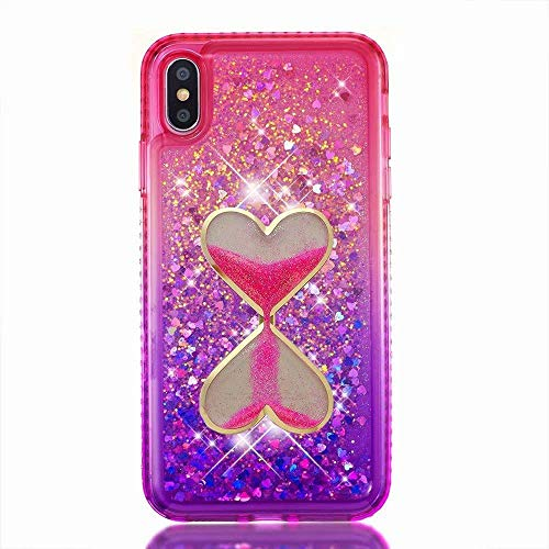 iPod Touch 6 Case,[Gradient Quicksand Series] Hourglass Glitter Liquid Quicksand Waterfall Floating Flowing Sparkle Flexible TPU Bling Diamond Girls Case for iPod Touch 5 6th Generation(Bling-25)
