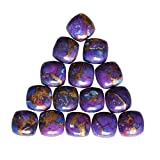 ABC Jewelry Mart 4X4mm Square Shape, Beautiful Purple Copper Turquoise 10 PCs Lot Cabochon, Jewellery Making Gemstone, Calibrated