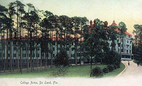 Deland, Florida - College Arms Exterior View (8oz Whole Bean Small Batch Artisan Coffee - Bold & Strong Medium Dark Roast w/Artwork) by Lantern Press (Image #3)