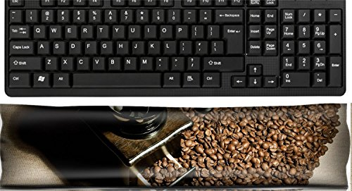 Liili Keyboard Wrist Rest Pad Office Decor Wrist Supporter Pillow IMAGE ID: 17227187 still life of the wooden old coffee grinder stand in great plenty of coffee in grains