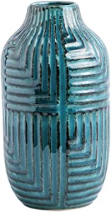hjn Ceramic Vases, Vase Pottery Vase Handmade Cute Flower Vase for Home Décor (Large Size: 10.6'' high)