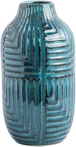 hjn Ceramic Vases, Vase Pottery Vase Handmade Cute Flower Vase for Home D cor Large Size 10.6 high