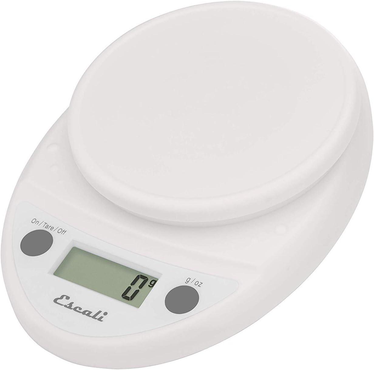 Amazon Com Escali Primo Lightweight Scale 8 5 X 6 X 1 5 Inches Soft White Digital Kitchen Scales Kitchen Dining