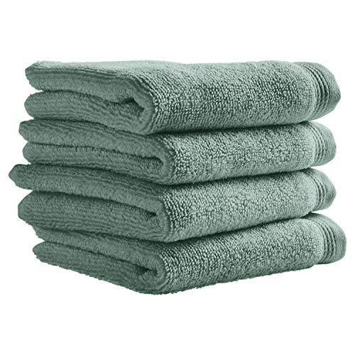 Stone & Beam Organic Cotton Washcloth Set, 4-Pack, Lagoon