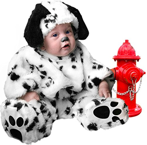 Plush Infant Baby Dalmatian Dog Puppy Costume (18 Months) (Dalmatian Halloween Costume For Baby)