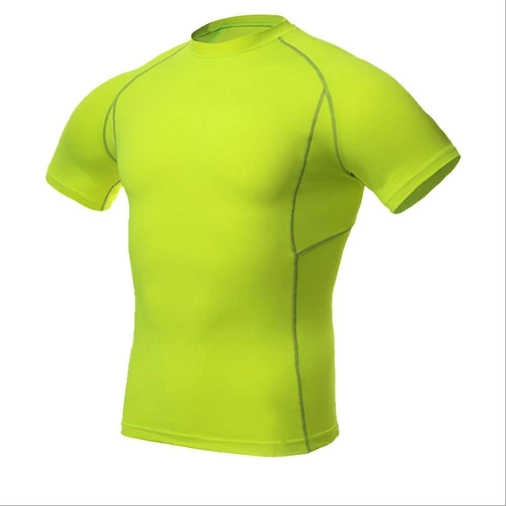 vert XXL NUASH Séchage Rapide Hommes Compression Tennis Maillot Tight Fitness Gilet EntraîneHommest Courant T-Shirt Court Hommes VêteHommests de Sport