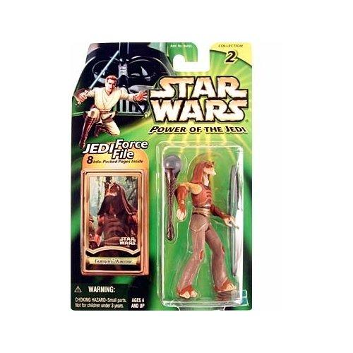 GUNGAN WARRIOR Star Wars Power of the Jedi Action Figure & Jedi Force File