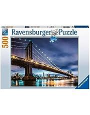 Ravensburger Pussel 16589 – New York – staden som aldrig sover – 500 bitar pussel för vuxna och barn från 10 år, city pussel från New York
