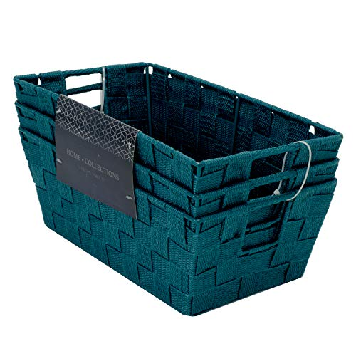 Basket Peacock - Home Expressions 3 Piece Set Woven Storage Bins 12
