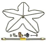 Spotix HPC Penta Fire Pit Burner Kit (FPS-PENTA30KIT-NG-MSCB), 30-Inch Burner, High Capacity, Match Light, Natural Gas