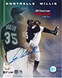Dontrell Willis Signed - Autographed Florida Marlins 8x10 inch Photo - Guaranteed to pass or JSA - PSA/DNA Certified