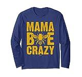 Unisex Beekeeper Mama Bee Crazy Beekeeping Shirt 2XL Navy
