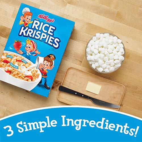 Kellogg's Rice Krispies Breakfast Cereal, Toasted Rice Cereal, Fat-Free, 18 oz Box