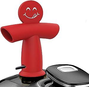 Original IP Steam Diverter Valve for Instant Pot Duo/Duo Plus/Smart,Foodi,Cabinets Savior,Silicone Steam Release Diverter,Pressure Cooker Accessories,BPA Free.Dishwasher Safe-Red