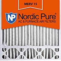 Nordic Pure 20x20x5 (4-3/8 Actual Depth) Honeywell Replacement MERV 15 Pleated AC Furnace Air Filter, Box of 1