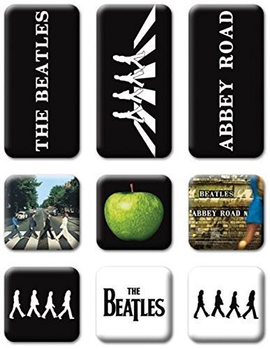 Price comparison product image Beatles Abbey Road set of 9 mini fridge magnets (ro) by Unknown (0100-01-01