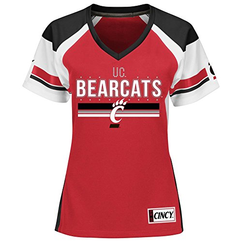 Women's Cincinnati Bearcats Jersey Draft Me Fashion Top (XX-Large)
