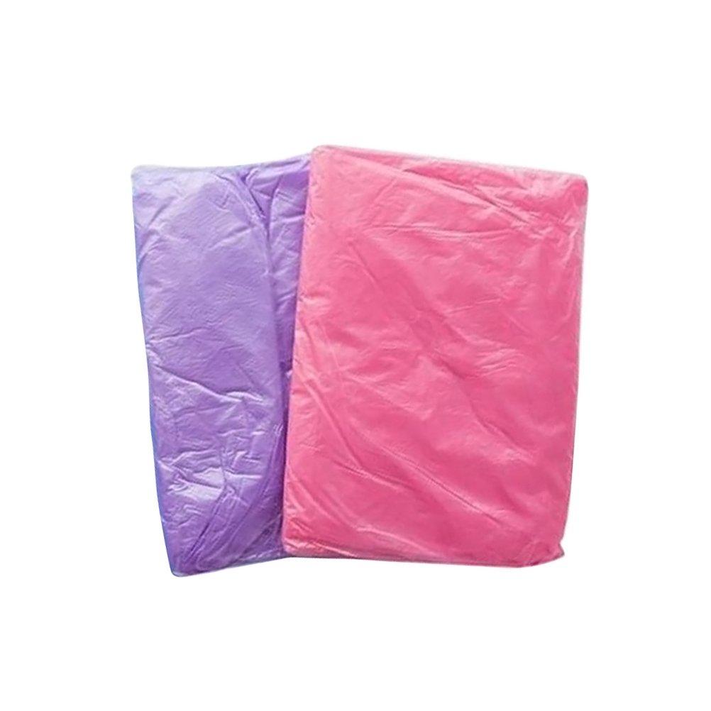 WINOMO Ponchos de pluie jetables Raincoat Adult Rainwear avec capuchons et manches Pack de 2 (couleur alé atoire)
