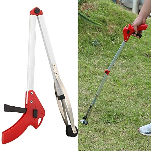 Foldable Trash Tool Garbage Pick Up Tool Long Arm Curved Handle Design Portable Extend Gripper Kitchen Garden Stick Trash Pickup