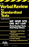 img - for Verbal Review for Standardized Tests (Cliffs Test Prep) book / textbook / text book