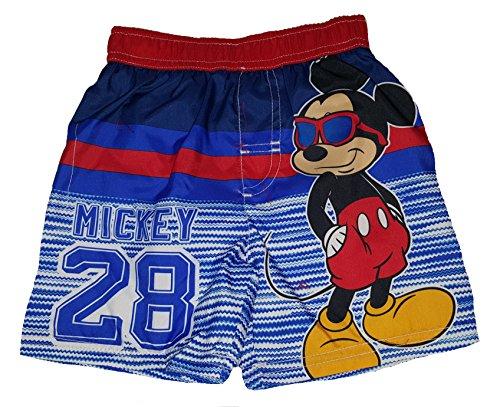 (Disney Toddler Boys Mickey Mouse Swim Short Trunk - 4T Red)