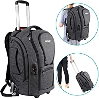 Neewer 2-in-1 Camera Rolling Backpack Trolley Case with...
