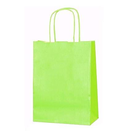 Bolsas de papel para regalo, tamaño mediano, 41 cm x 32 cm x 12 cm, con asas trenzadas, 11 unidades, variedad de colores