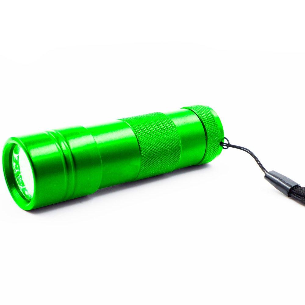 refoss Animaux Domestiques urine et Stains Detector–Handheld UV lumière noire UV Lampe de poche LED–12 Refoss UV lampe de poche Scorpion chasse lumière 12 LED ultraviolets-Vert