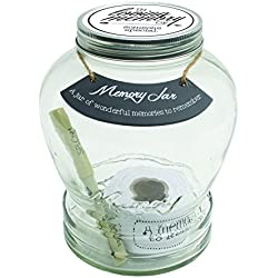 "Top Shelf ""In Loving Memory"" Memory Jar ; Thoughtful Condolence Gift Ideas ; Unique Memorial Gifts ; Keepsakes for Friends and Family ; Kit Comes with 180 Blank Tickets, Pen, and Decorative Lid"