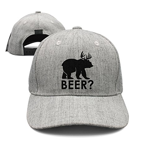 SEING Flat-Brim Baseball Caps Retro Deer Beer Bear 1 Snapback Unisex  Adjustable Hat at Amazon Men s Clothing store  2414cea4e5a7