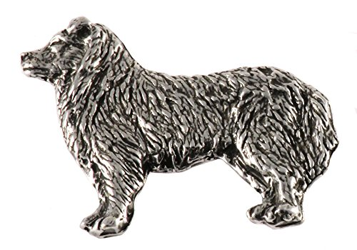 - Border Collie Pewter Pin, D330F
