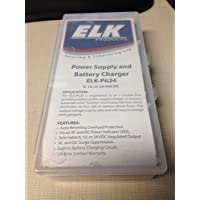 ELK PRODUCTS P624 POWER SUPPLY / BATTERY CHARGER, 6VDC / 12VDC / 24VDC